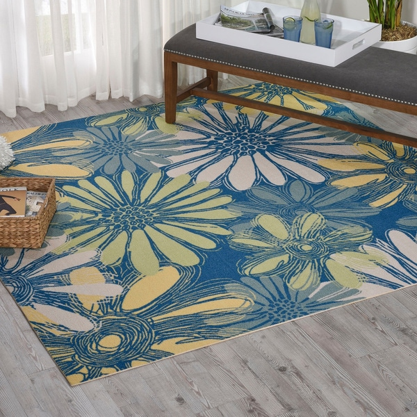 Nourison Home And Garden Blue Rug 7 39 9 Square Free
