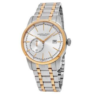 Hamilton Men's H40525151 'American Classic' Silver Dial Two Tone Stainless Steel Railroad Swiss Automatic Watch|https://ak1.ostkcdn.com/images/products/12004127/P18881777.jpg?impolicy=medium