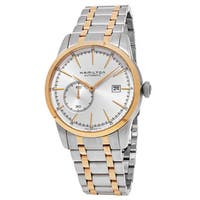 Hamilton Men's  'American Classic' Silver Dial Two Tone Stainless Steel Railroad Swiss Automatic Watch