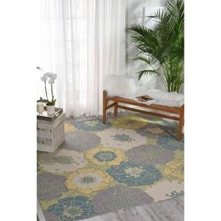 Nourison Home and Garden Green Indoor/ Outdoor Area Rug (7'9 x 7'9)