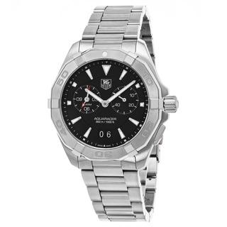 Tag Heuer Men's WAY111Z.BA0928 '300 Aquaracer' Black Dial Black Stainless Steel Alarm Swiss Automatic Watch