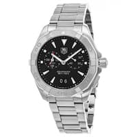 Tag Heuer Men's WAY111Z.BA0928 '300 Aquaracer' Black Dial Black Stainless Steel Alarm Swiss Automatic Watch