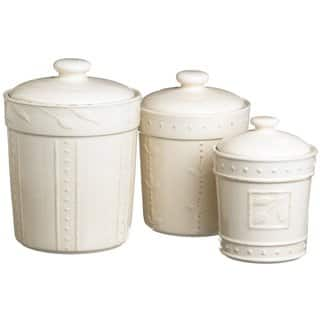 Signature Housewares Soro Stoneware Canisters Set Of 3
