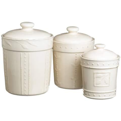 Signature Housewares Sorrento Stoneware Canisters (Set of 3)