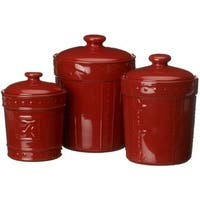 Buy Red, Stoneware Kitchen Canisters Online at Overstock ...