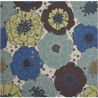 Nourison Home and Garden Light Blue Rug (7'9 Square)