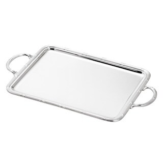 Wolff Silver Plated Large Rectangular Serving Tray with Handles