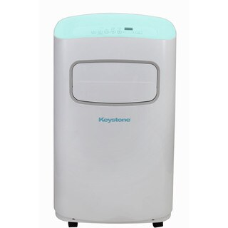 Keystone KSTAP14CL White/Blue 14,000 BTU 115-volt Portable Air Conditioner With Remote Control