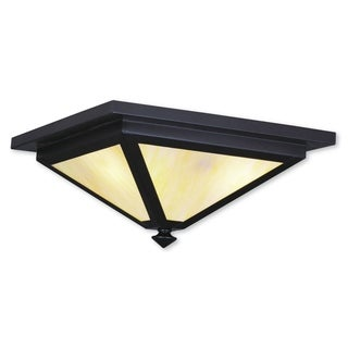 Livex Lighting Montclair Mission 3-light Bronze Brass Outdoor Ceiling Mount