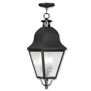 Livex Lighting Amwell Bronze Brass 3-light Outdoor Chain Lantern