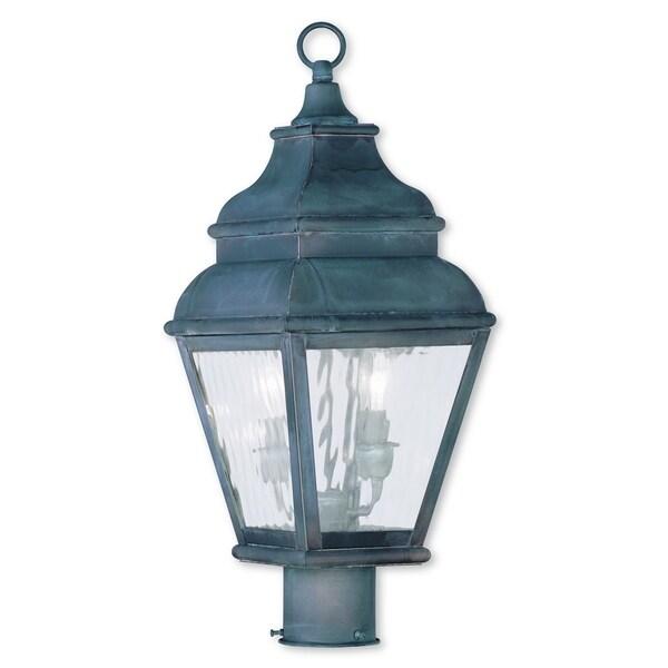 Shop Livex Lighting Exeter Charcoal 2-light Outdoor Post