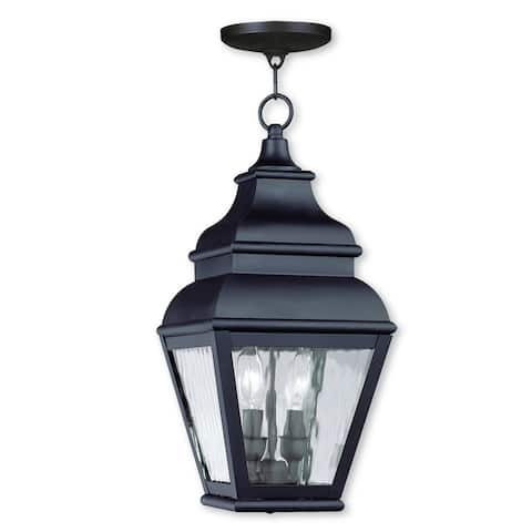 Livex Lighting Exeter Bronze Brass 2-light Outdoor Chain Lantern