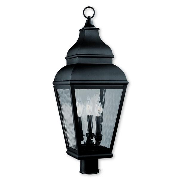 Shop Livex Lighting Exeter Black Brass 3-light Outdoor