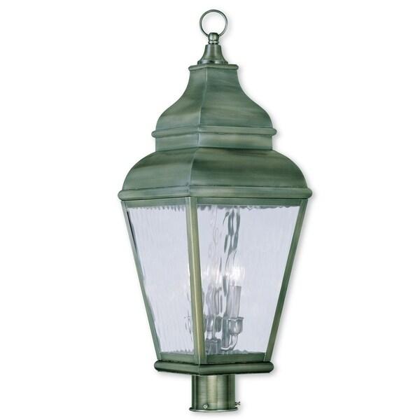 Shop Livex Lighting Exeter Vintage Pewter Brass 3-light