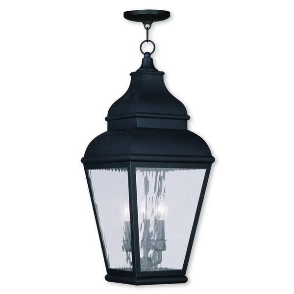 Shop Livex Lighting Exeter Black Brass Glass 3-light