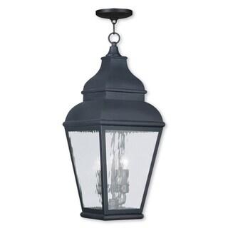 Livex Lighting Exeter Bronze 3-light Outdoor Chain Lantern