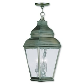 Livex Lighting Exeter Vintage Pewter 3-light Outdoor Chain Lantern