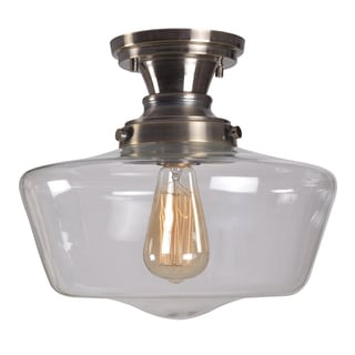 Hallow 1 Light Semi Flush Mount Ceiling Light