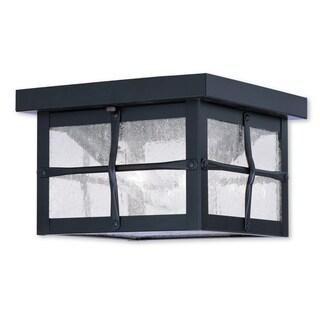 Livex Lighting Brighton Bronze 4-light Outdoor Ceiling Mount Fixture