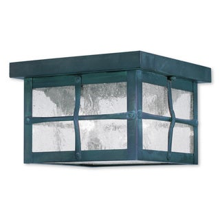 Livex Lighting Brighton Collection Charcoal Brass 7.5-inch x 5-inch 4-light Outdoor Ceiling Mount