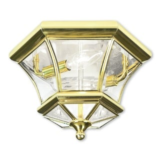 Livex Lighting Monterey/Georgetown Polished Brass 2-light Ceiling Mount