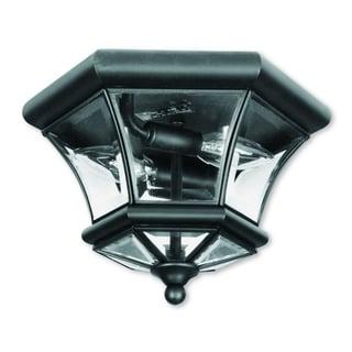 Livex Lighting Monterey/Georgetown Black 2-light Ceiling Mount Fixture