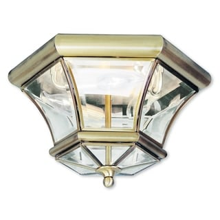 Livex Lighting Monterey/Georgetown Antique Brass 3-light Ceiling Mount