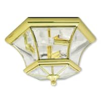 Livex Lighting Monterey Polished Brass 3-Light Ceiling Mount Lantern