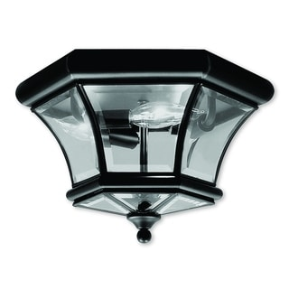 Livex Lighting Monterey/Georgetown Black 3-light Ceiling Mount