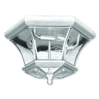 Livex Lighting Monterey/Georgetown Brushed Nickel 3-light Ceiling Mount