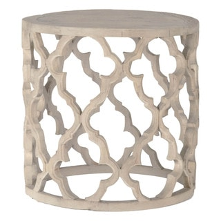 Gray Manor Paige Reclaimed Elm Wood Decorative End Table