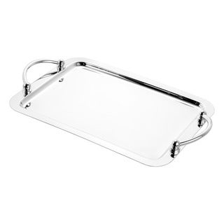 Wolff Ball Stainless Steel Large Serving Tray with Handles