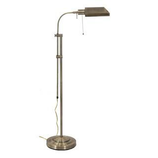 Somette Merritt Antique Bronze Pharmacy Adjustable 58.5-inch Floor Lamp