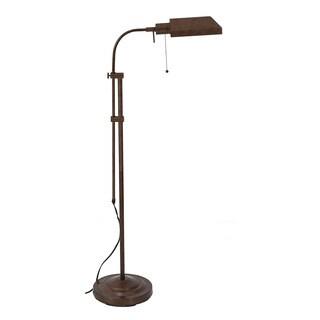 Somette Merritt Rust Finish Pharmacy Adjustable 58.5-inch Floor Lamp