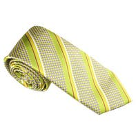 Elie Balleh Men's Milano Italy Microfiber Houndstooth Skinny Neck Tie
