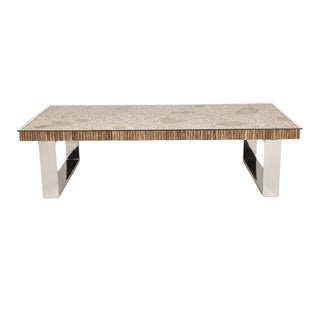 Gray Manor Lonnie Wood and Stainless Steel Coffee Table