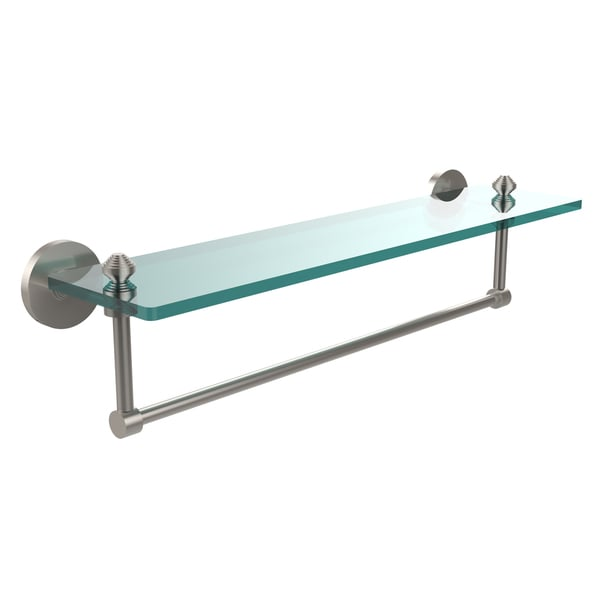 Organize It All Bathroom Glass Shelf With Chrome Towel Bar Inc