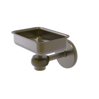 Allied Brass Satellite Orbit One Clear Brass Wall-mounted Soap Dish with Twisted Accents