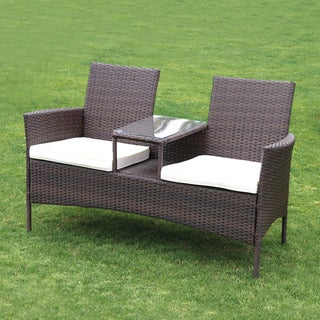 Forres Tete a Tete Rattan Double-seater with Table