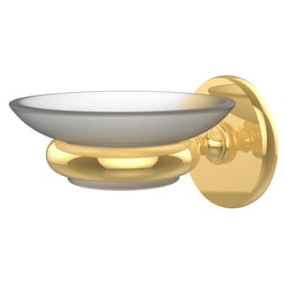 Allied Brass Prestige Skyline Collection Clear Brass Wall-mounted Soap Dish