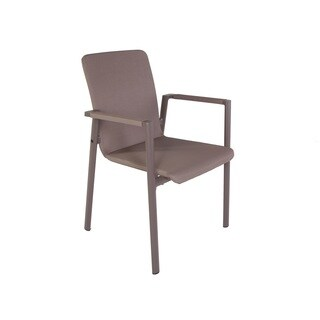 Hans Andersen Home Forlanini Taupe Fabric/Aluminum Outdoor Dining Chair