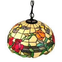 Amora Lighting AM227HL16 Floral 2-light Tiffany-style Hanging Pendant Lamp