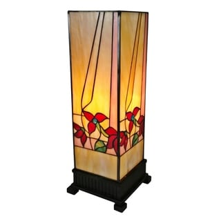 Amora Lighting AM217TL06 Multicolor Floral 15-inch Tiffany-style Table Lamp