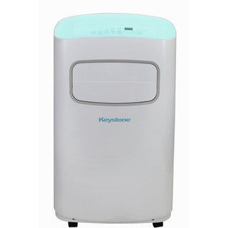 Keystone KSTAP12CL White/Blue 12000-BTU 115-volt Portable Air Conditioner with Remote Control
