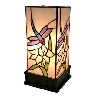 Amora Lighting AM215TL05 Multi-color Art Glass Tiffany-style Design Table Lamp
