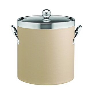 Kraftware Contempo Chrome Lid, Top Ring, and Side Handles 3-quart Ice Bucket