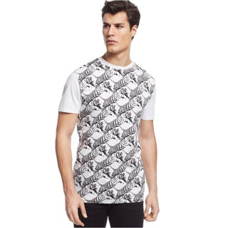 Versace Jeans Men's White Tiger Print T-shirt