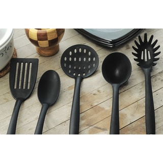 Black Silicone 5-piece Essential Kitchen Tools Set