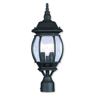 Livex Lighting Frontenac Black 3-light Outdoor Post Lantern