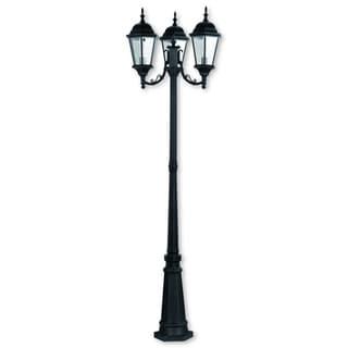 Livex Lighting Hamilton Black Outdoor 3-headed Post Lamp